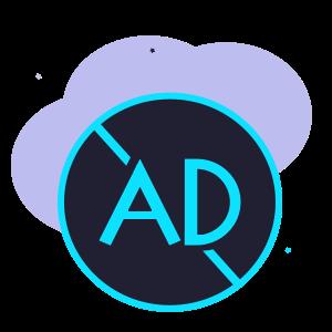 Ad-free app illustration