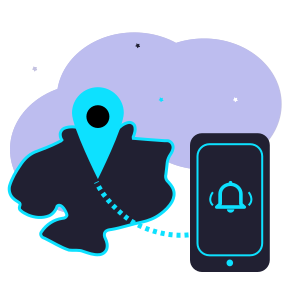 Location based information service illustration